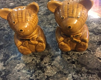 Teddy Bear Salt and Pepper Set