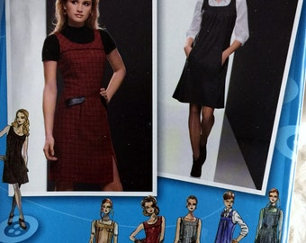 Simplicity Womens Project Runway Jumper Dress Sewing Pattern 2848 Size 4 6 8 10 12 UC FF Uncut