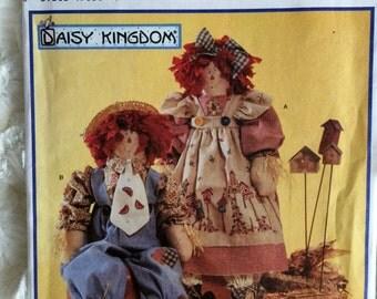 Simplicity Plush Stuffed Raggedy Ann and Andy Dolls Sewing Pattern 7446 UC FF Uncut Vintage Daisy Kingdom