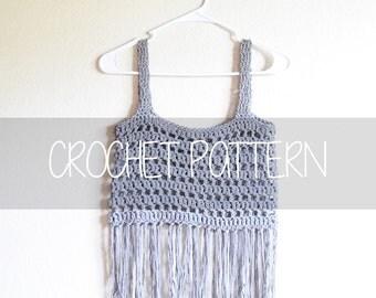 Crochet PATTERN Summertime Crop top, cute crop top, crocheted crop top pattern || Summertime Crop Top Pattern