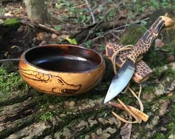 Dragon wooden bowl