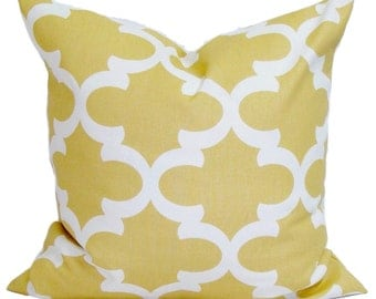 GOLD YELLOW PILLOW.18x18 inch.Decorative Pillow Cover.Housewares.Home Decor.Gold Cushion.Yellow Cushion Cover.Saffron Pillow.Gold Pillow