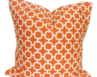 OUTDOOR PILLOWS, Outdoor Pillow Cover, Orange Decorative Pillow, Orange Throw Pillow, Orange Pillow, Accent Pillow, Pillow Covers, All Sizes