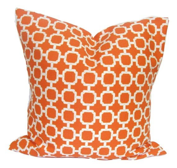 OUTDOOR PILLOWS Outdoor Pillow Cover Orange Decorative