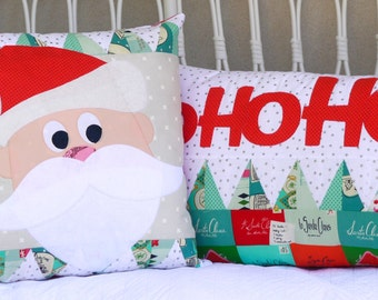 Hohoho! christmas cushion set. PDF pattern