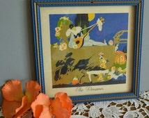 "Vintage Art Deco Print 1920s Pierrot Print 1920s Garden Print Small 1920s Print Lute Print ""The Dreamer"" Print"