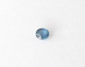 Genuine Blue Sapphire, Oval Cut, 0.58 carat