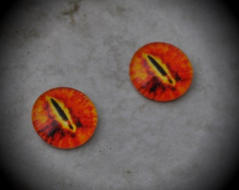 10mm Iris Cat Eye Glass Cabochon Z227