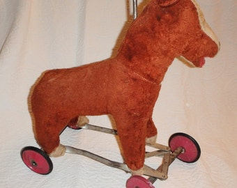 Toddler's Toy Riding Horse