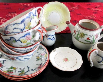 Collection of Vintage Japanese Tableware