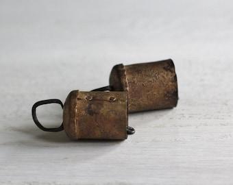 Vintage hand hammered primitive brass bells