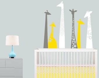 Giraffe Wall Decal - Giraffe Artwork for Baby Nursery - Large Giraffe Print