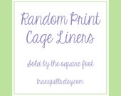 Fleece Cage Liners - Random Choice - Sold by Square Foot