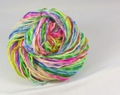 Light rainbow. Hand painted soft merino yarn  10ply Worsted  100 grams 3.5 ounces