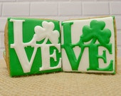 Decorated Cookies - Love - Shamrock - 1 dozen