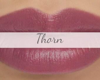 "Sample Vegan Lip & Cheek Cream - ""Thorn"" (medium plum lipstick / cream blush)"