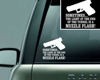 Vinyl Decal- Light at End of Tunnel (2nd Amendment)