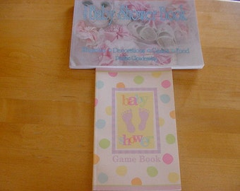 1992 The Baby Shower Book, Pauline Glendenning, Plus Baby Shower Game Book, Etiquette, Decorations, Games. Vintage