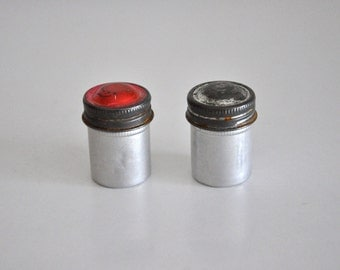 Vintage Pair of Metal Film Canisters 35 mm
