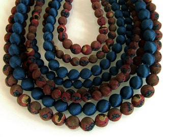 8 strands silk necklace