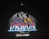 90's Iron Dragon cedar point t shirt - original vintage deadstock - Large roller coaster amusement park theme Florida