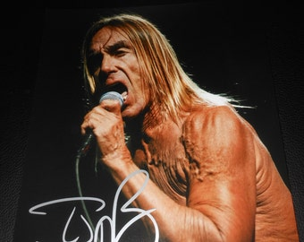 Iggy Pop signed 8x10 photo - The Stooges - punk rock band - autograph