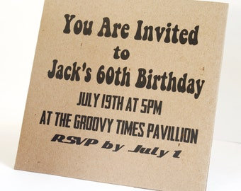 Custom 45 Record Invitations for Retro Wedding or Birthday