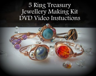 5 Ring Treasury - DVD Jewellery Making Kit