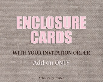 Add Enclosure cards to your order - Add-On listing for invitation listings