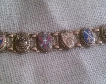 1950s slide charm bracelet