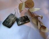 Horn earrings with rectangular shape/ Earrings/ Jewelry/ Gift for mom/ Gift for sister/ Gift for girls/ Gift for women/ Gift for teacher