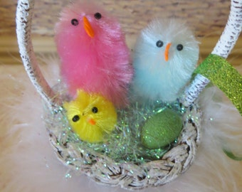 Easter ornament,easter decor,easter tree ornament,easter basket,keepsake,easter ornament,shabby chic,easter handmade,tree display only
