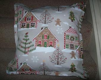 Gingerbread House Christmas Cushion