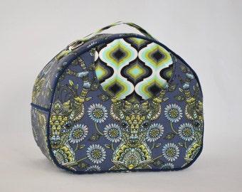 Swoon Olive Vanity Cosmetics Round Bag