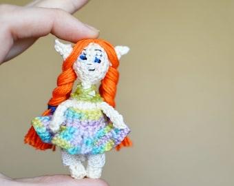 Tiny Elf crochet doll