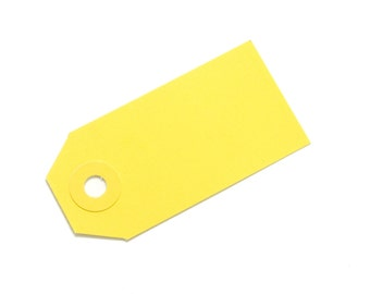 Yellow Parcel Gift Tags