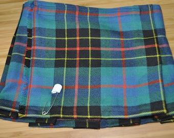 Baby Kilt, 6-12m in Brodie Hunting Ancient tartan, 100% 10oz Pure New Wool, Handmade in Scotland.