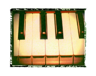 Piano keys music art print / music gift / rock n roll art / music room decor / guitar gift / man cave art