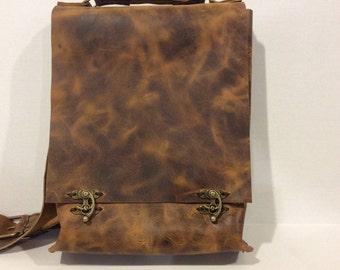 CrossBody bag/Leather Top Handle Bag/Tan Shoulder Satchel Bag/Tan Leather Messenger Bag,Leather Satchel Bag Gifts for Men