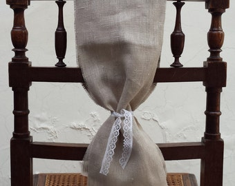 10 linen chair sashes elegant rustic wedding decor