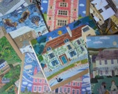 SET of 6 CARDS! - Your CHOICE! - Writers' Houses - Gift Ideas - English Literature - English Landscapes - Christmas - British Writers' Homes