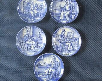 Enoch Wedgwood Tradesmen Collector Plates Mid Century England