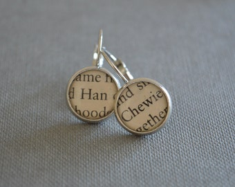 Han Solo and Chewbacca Star Wars Earrings
