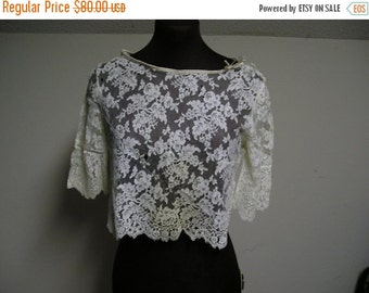 ON SALE Alencon Lace top