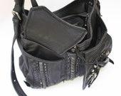 Sholder Bag, Hand Bag, Back Leather Bag, Studded Bag