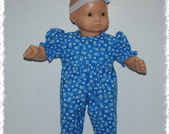 "Short Sleeve 1-Piece Jumpsuit (Bitty Baby 15"" Doll)"