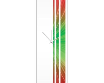 Large Modern Clock 'Bloom Triple Stripe Clock' by Adam Schwoeppe - Wall Decor Minimalist Accent Piece on Acrylic
