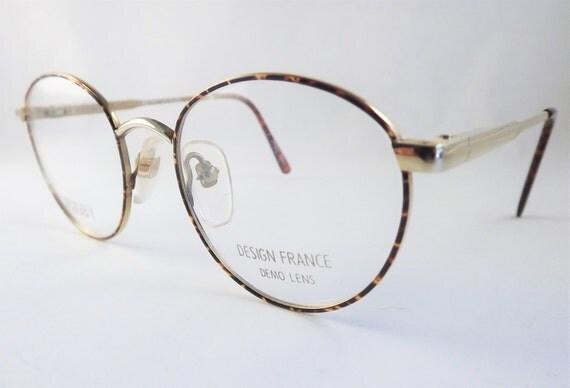 tortoise eyeglasses gold metal frames vintage