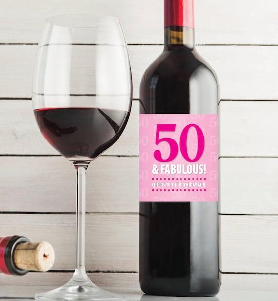 50th Birthday 50 & Fabulous Printable Birthday