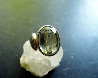Ring, sterling silver, tourmaline, quartz, tourmaline, open, faceted, jewelry